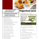 Speisekarte Fingerfood warm